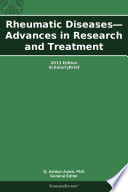 Rheumatic Diseases Advances In Research And Treatment 2013 Edition