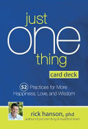 Just One Thing Card Deck