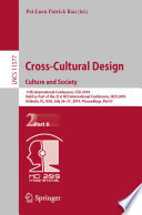 Cross Cultural Design  Culture and Society