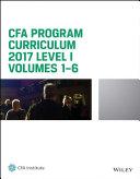 CFA Program Curriculum 2017 Level I