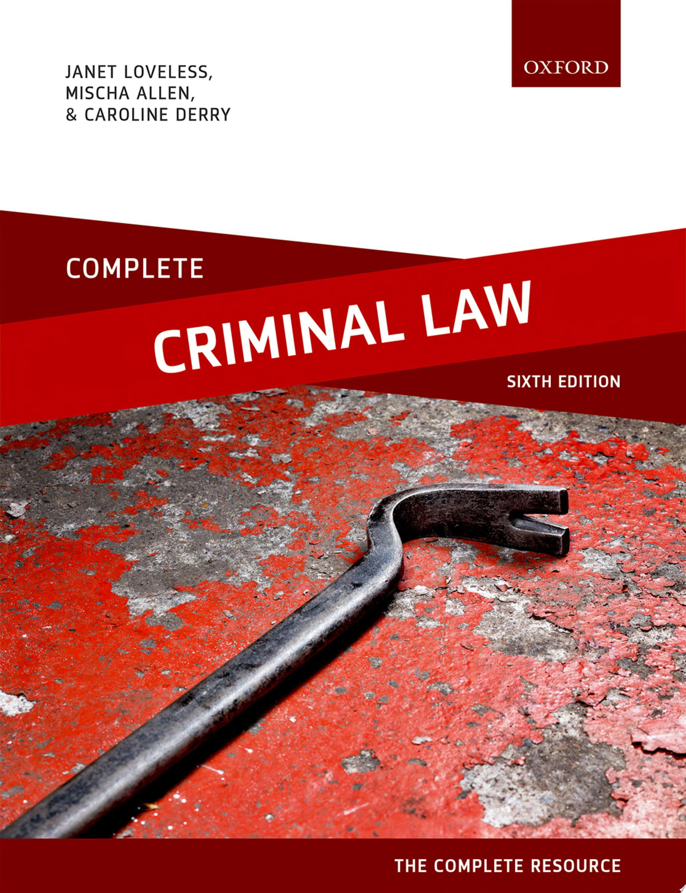 Complete Criminal Law