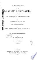 A Treatise on the Law of Contracts Book