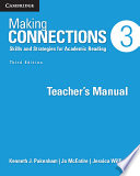 Making Connections Level 3 Teacher's Manual  : Skills and Strategies for Academic Reading