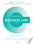 Business Law Concentrate  : Law Revision and Study Guide