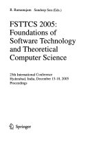 FSTTCS 2005  Foundations of Software Technology and Theoretical Computer Science