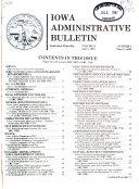 Iowa Administrative Bulletin Book PDF