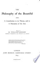 The Philosophy of the Beautiful     Book PDF