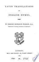 Latin Translation of English Hymns. Eng. & Lat