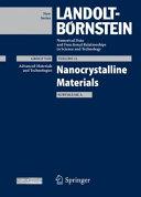 Nanocrystalline Materials, Subvolume A