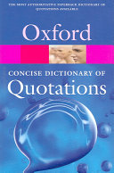 Concise Oxford Dictionary of Quotations ebook