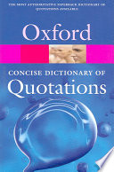 """Concise Oxford Dictionary of Quotations"" by Susan Ratcliffe"
