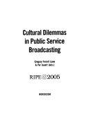 Cultural Dilemmas in Public Service Broadcasting