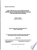 User s Manual for an Army National Guard  ARNG  Armor and Mechanized Infantry Gunnery Training Assessment Database