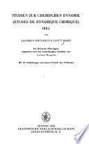 Studien zur chemischen Dynamik, 1884