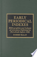 Early Periodical Indexes