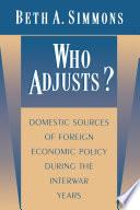 Who Adjusts