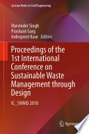 Proceedings of the 1st International Conference on Sustainable Waste Management through Design