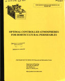 Optimal Controlled Atmospheres For Horticultural Perishables Book PDF