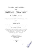 Official proceedings of the National Democratic Convention, Official proceedings of the National Democratic Convention (1868)