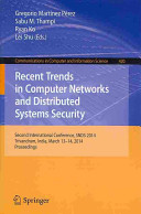 Recent Trends in Computer Networks and Distributed Systems Security Book