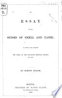 An Essay on the Senses of Smell and Taste