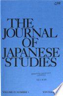 The Journal of Japanese Studies  , Volume 35