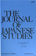 Read Online The Journal of Japanese Studies For Free