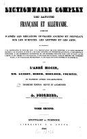 Dictionnaire complet des langues française et allemande