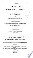 A Theatrical Pocket Book Or Brief Dramatic Chronology From The Earliest Periods Of History With A List Of British Dramatists And Of Actors C On The London Stage From The Introduction Of Theatrical Entertainments Into England With A Supplement Copious Ms Notes And Additions