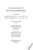 Naval Documents of the American Revolution: American theater: Oct. 1, 1777-Dec. 31, 1777. European theater: Oct. 1, 1777-Dec. 31, 1777