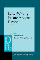 Letter Writing in Late Modern Europe