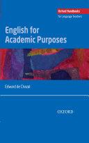 English for Academic Purposes - Oxford Handbooks for Language Teachers