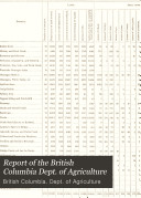 Report of the British Columbia Department of Agriculture