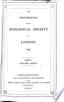 Proceedings of the Zoological Society of London (1832).