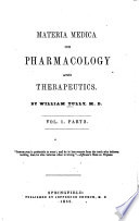 Materia Medica Or Pharmacology And Therapeutics Book PDF