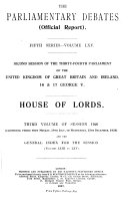 The Parliamentary Debates  Hansard