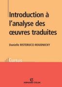 Pdf Introduction à l'analyse des oeuvres traduites Telecharger