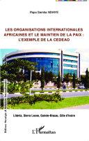 Pdf Les organisations internationales africaines et le maintien de la paix : Telecharger