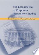 The Econometrics of Corporate Governance Studies Book