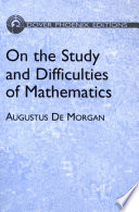 On The Study And Difficulties Of Mathematics Book PDF
