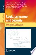 Logic, Language, and Security