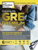 Cracking the GRE Premium Edition with 6 Practice Tests 2018