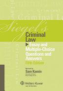 Siegel's Criminal Law