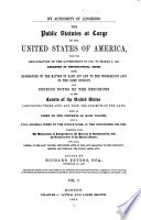 The Public Statutes at Large of the United States of America