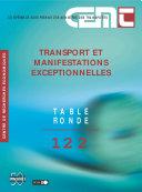 Pdf Tables Rondes CEMT Transport et manifestations exceptionnelles Telecharger