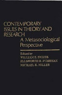 Contemporary Issues in Theory and Research