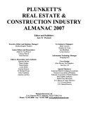 Plunkett s Real Estate   Construction Industry Almanac