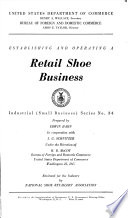 Establishing and Operating a Retail Shoe Business
