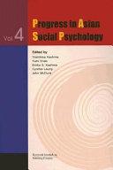 Progress In Asian Social Psychology
