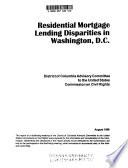 Residential Mortgage Lending Disparities in Washington  D C  Book